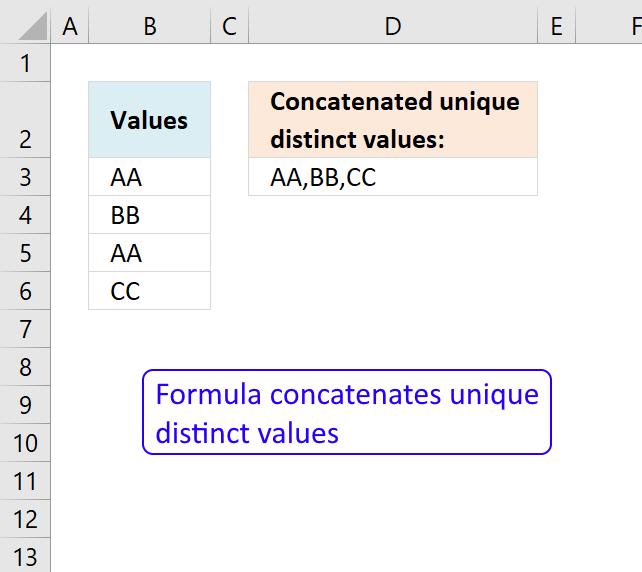 Concatenate cell values