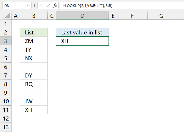 Find last value in a column1