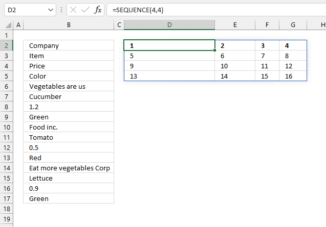 Rearrange values sequence function Excel 365