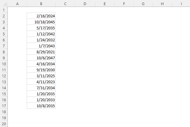 Excel Date function date order