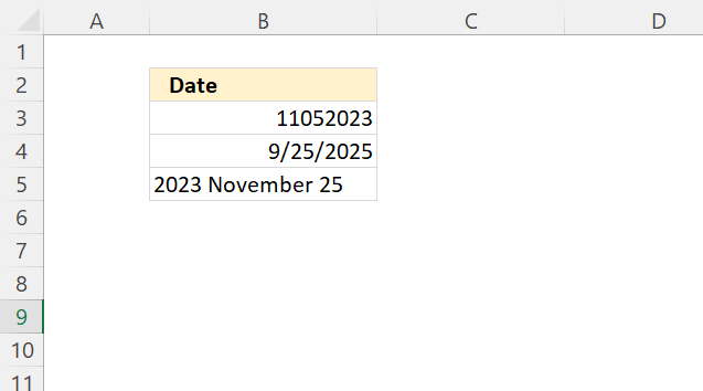 Is date an excel date