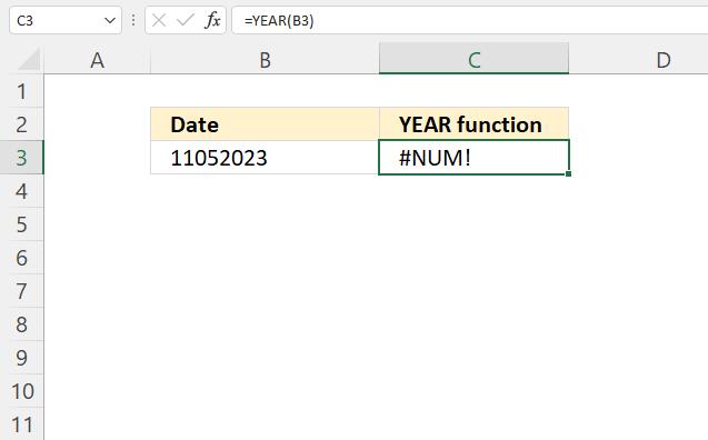 YEAR function NUM error