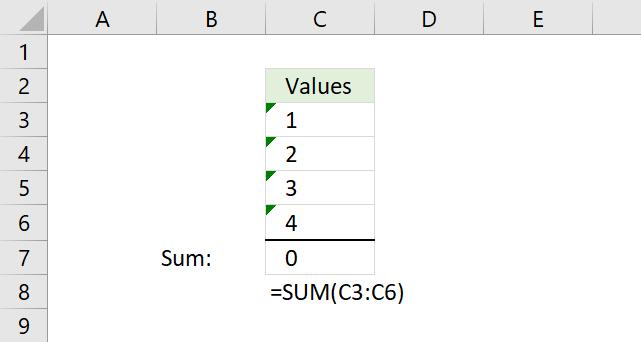 Excel formula not working