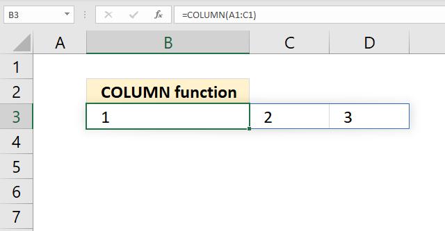 COLUMN function array