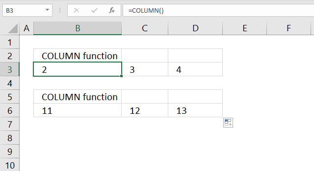 COLUMN function of other columns