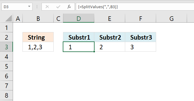 How to use the SPLIT function