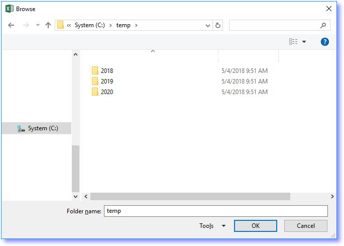 Copy data from workbooks in folder and subfolders