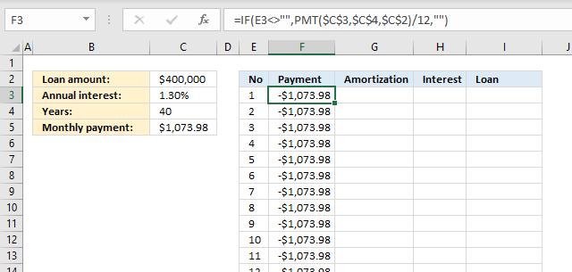PMT function Loan calculator3