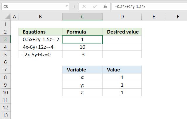 Solve linear equations convert equations to formulas