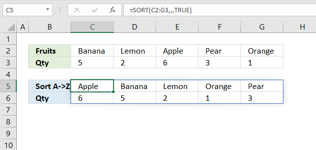 sort function sort by columns