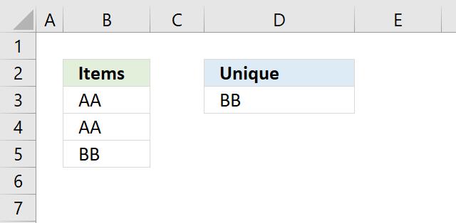unique values1