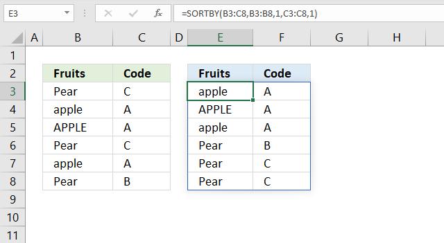 sortby function case sensitive