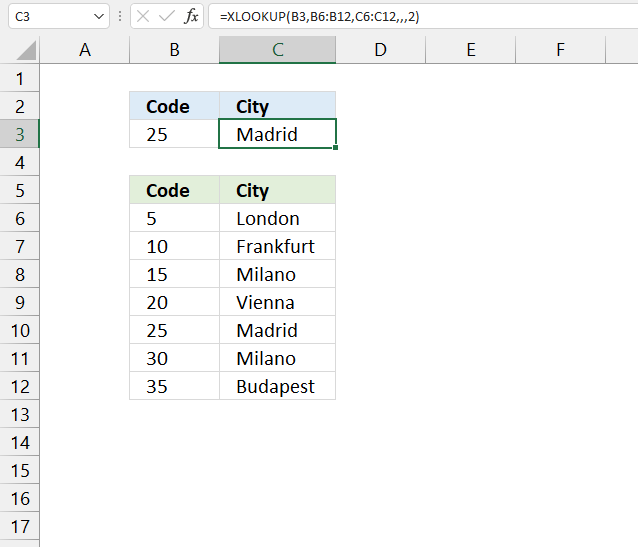 How to use the XLOOKUP function binary lookup