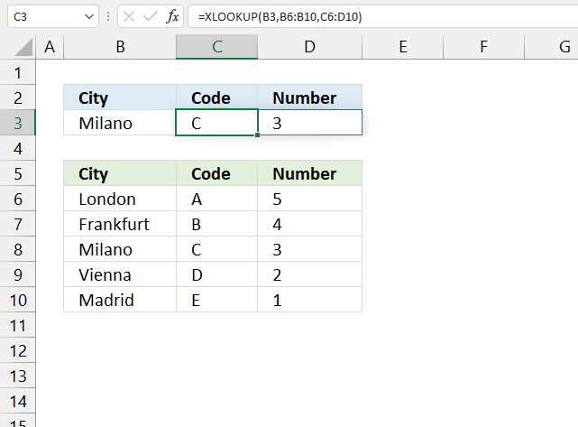 How to use the XLOOKUP function return mutliple values