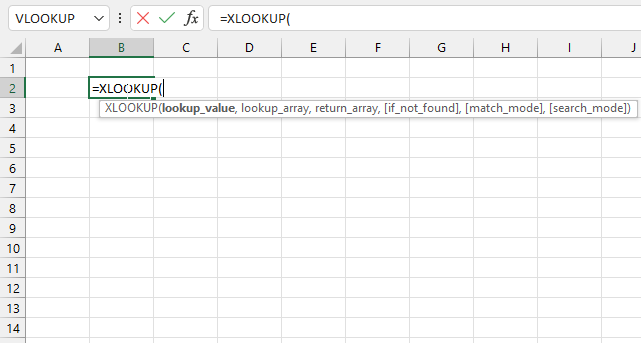 How to use the XLOOKUP function syntax