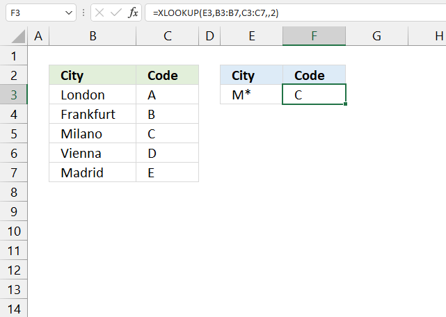 How to use the XLOOKUP function wildcard lookup lookup