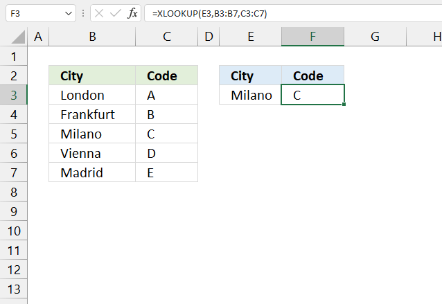 How to use the XLOOKUP function