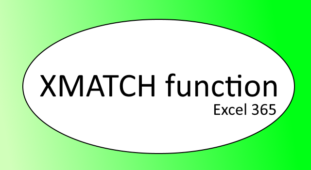 How to use the XMATCH function
